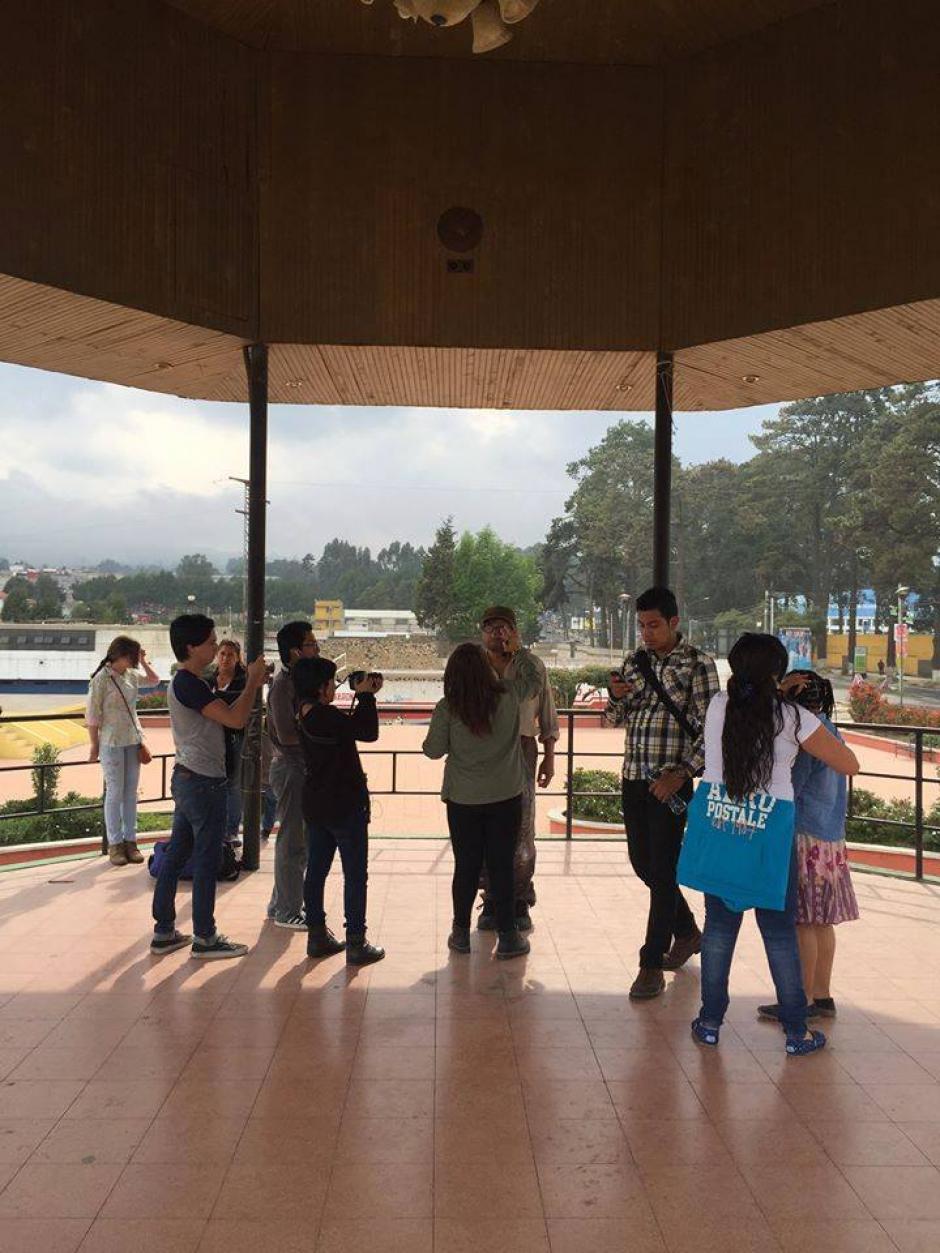 Uno de los escenarios que aparece en el corto es el salón de honor de la municipalidad de Quetzaltenango. (Foto: Gerson Cifuentes)