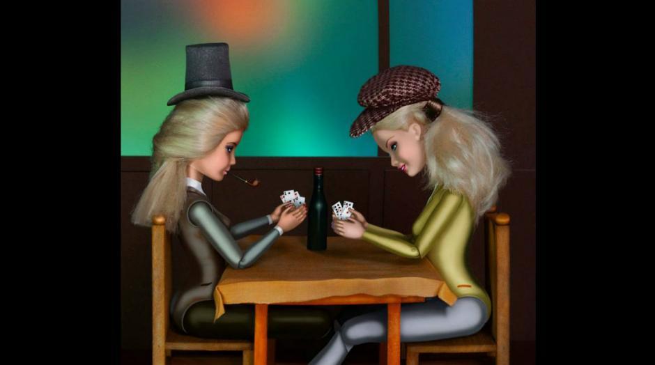 """""""Los jugadores de cartas"""", de Paul Cézanne. (Foto: Pinterest/catherinethery)"""