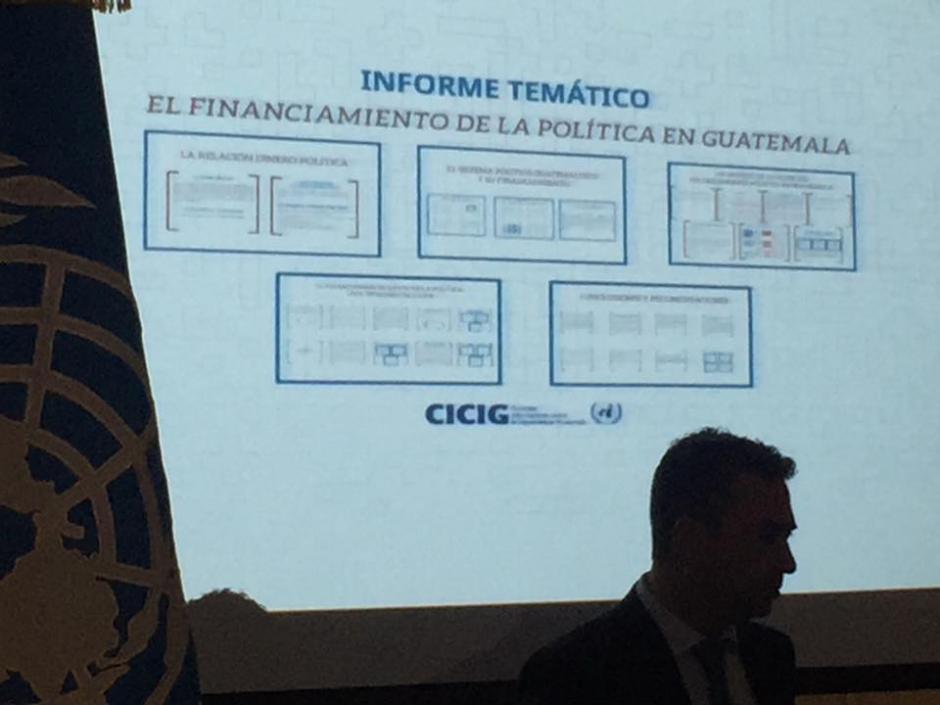 El jefe de la CICIG expone los diversos modos en que los partidos políticos han logrado llevar su imagen a la población guatemalteca.(Foto: Jesús Alfonso/Soy502)