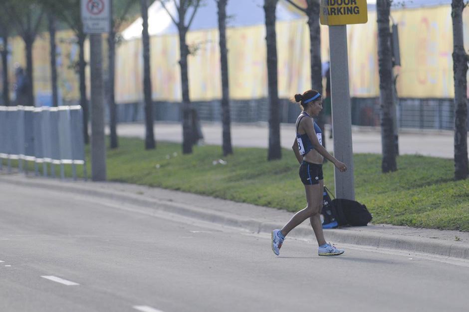 Mirna Ortiz, marchista nacional, fue descalificada de su prueba en los Juegos Panamericanos de Toronto 2015. (Foto: Pedro Mijangos/Soy502)