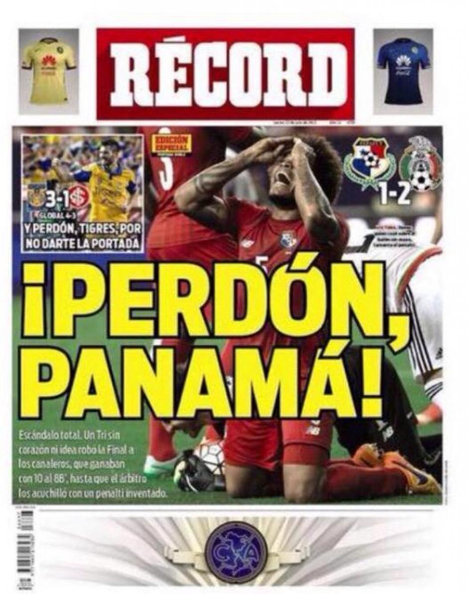 """El diario deportivo """"Récord"""" de México pidió disculpas a los panameños. (Foto: diez.hn)"""
