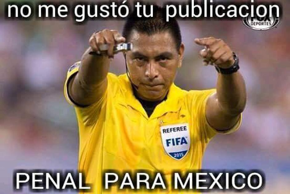 El árbitro guatemalteco Walter López pitó un penalti a favor de México ante Costa Rica. (Foto: elmundo.sv)