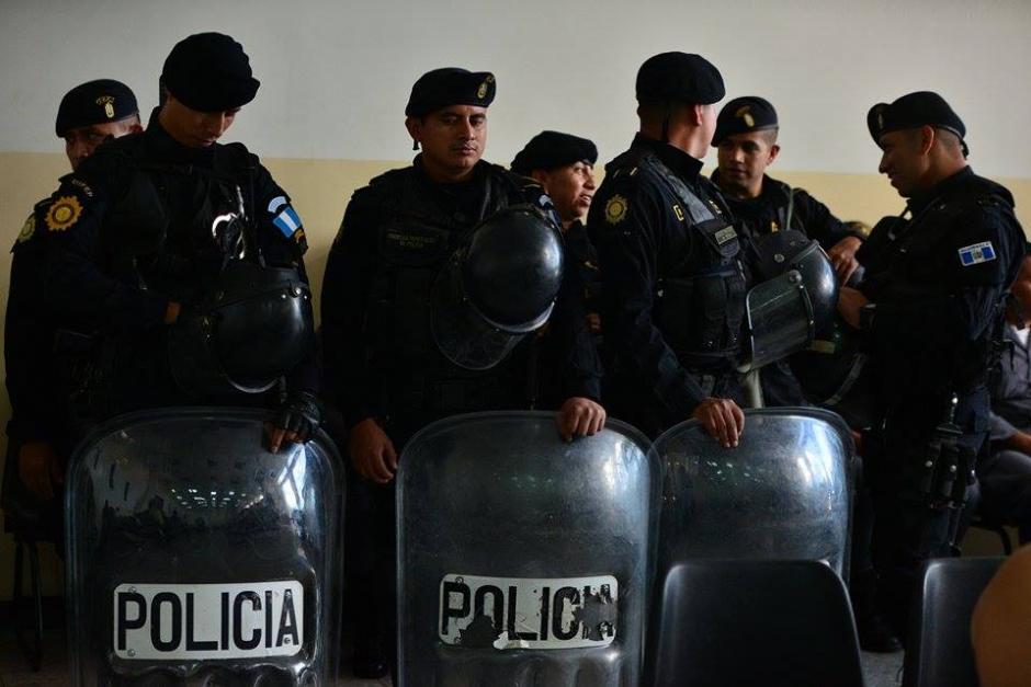 La seguridad se reforzó en Tribunales por la presencia de los pandilleros considerados peligrosos. (Foto: Wilder López/Soy502)