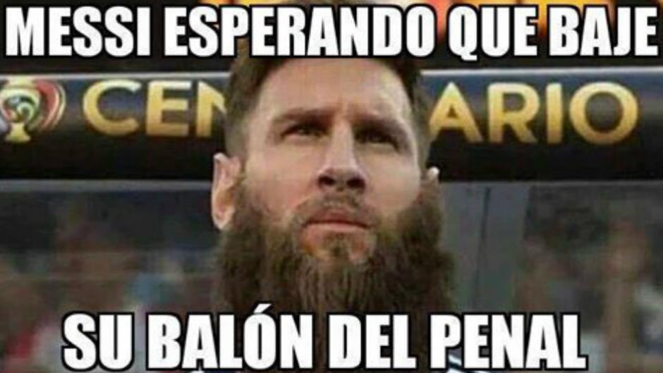 """Algunos """"memes"""" se enfocaron en el penal fallado por Messi. (Imagen: trome.pe)"""