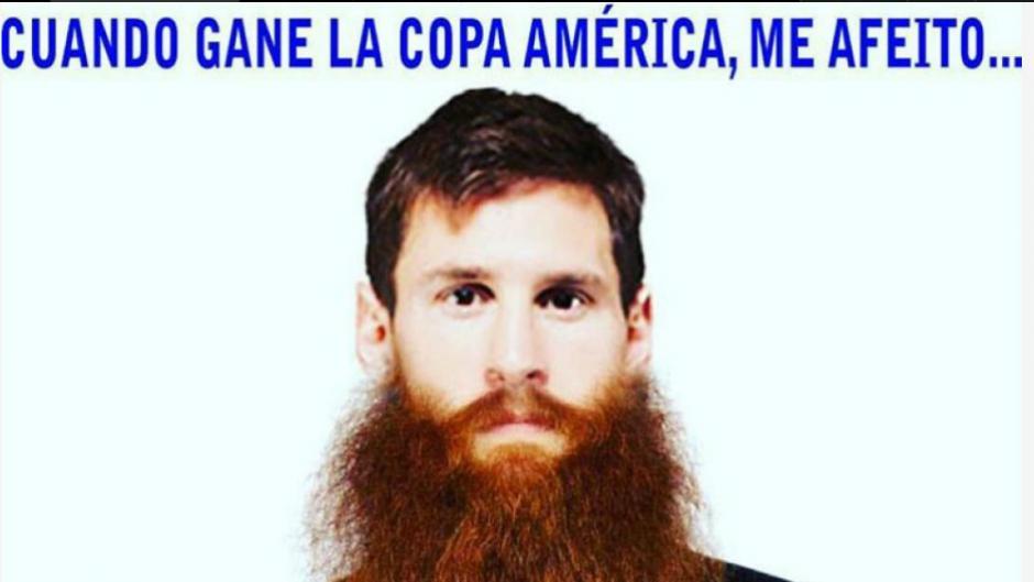 También está el meme por la barba que lucio Messi durante la Copa América. (Imagen: trome.pe)