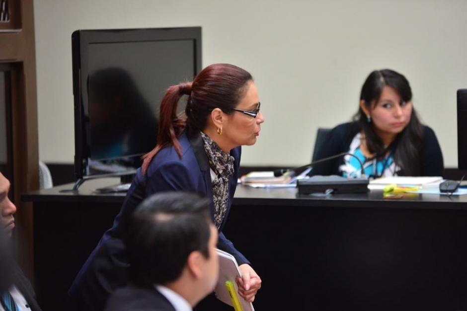 La exvicepresidenta Roxana Baldetti, en su segundo día de audiencia de primera declaración. (Foto: Jesús Alfonso/Soy502)