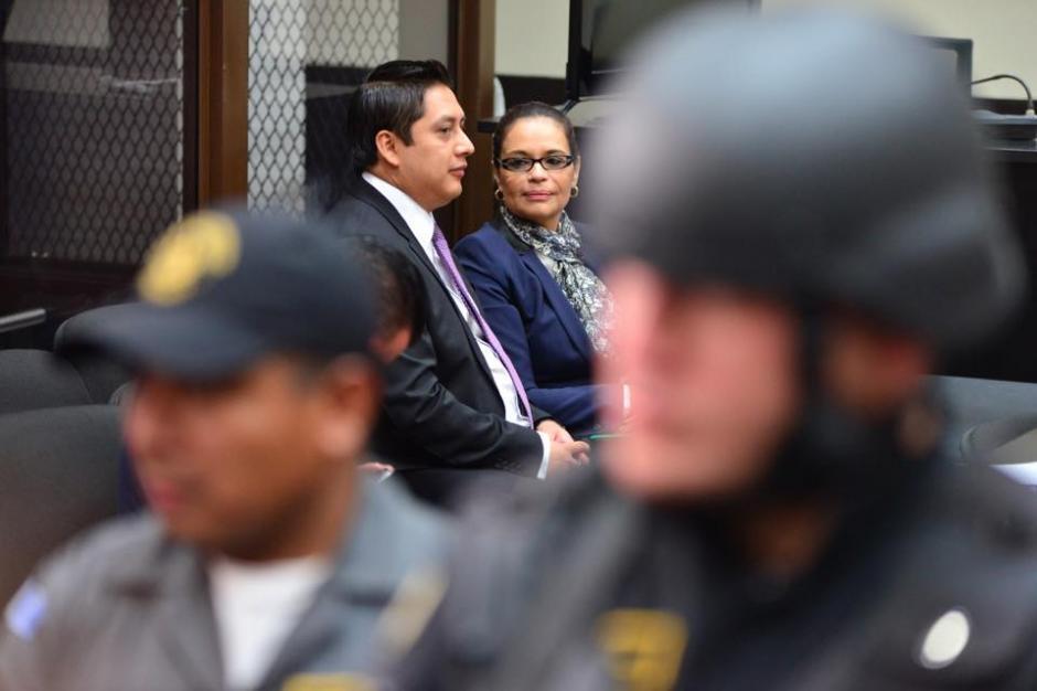 La exvicepresidenta Roxana Baldetti, durante el segundo día de audiencia de primera declaración en la Torre de Tribunales. (Foto: Jesús Alfonso/Soy502)