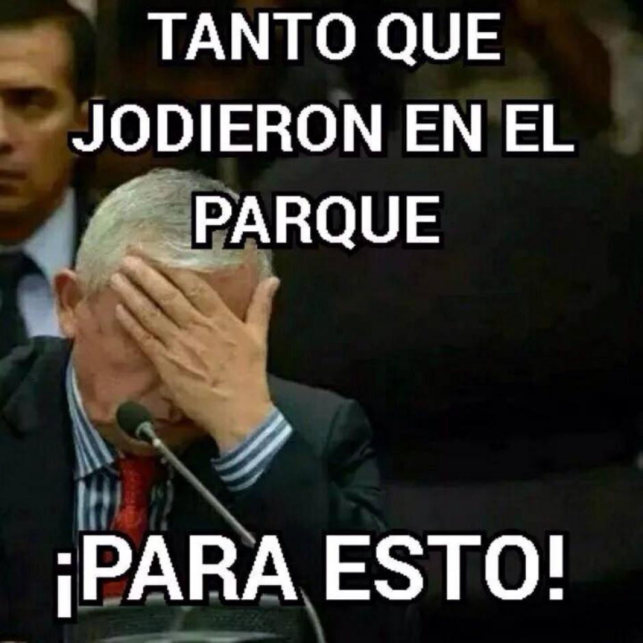 """El expresidente Otto Pérez Molina """"lamentó"""" los resultados de las elecciones generales."""