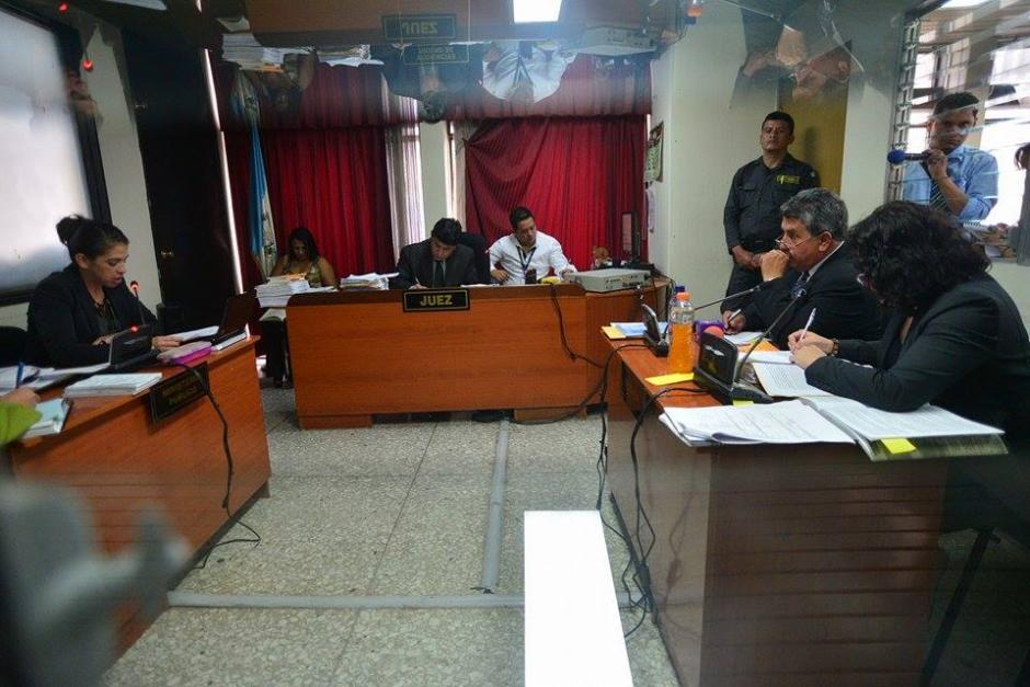 La sala donde se realiza la audiencia de primera declaración de la jueza Jisela Reinoso. (Foto: Wilder López/Soy502)