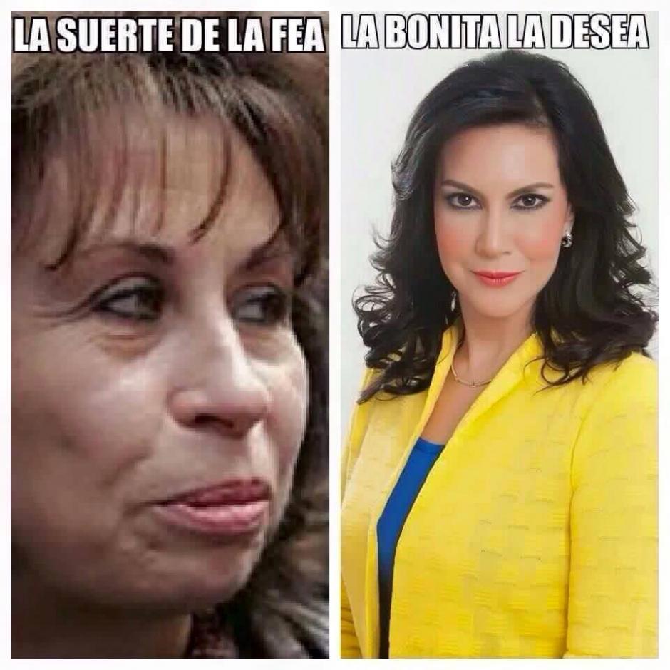 Los internautas hicieron comparaciones entre Sandra Torres y Zury Ríos.