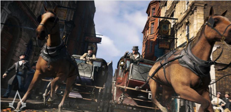 Algunas de las escenas de acción en el juego tienen como epicentro los carruajes. El jugador puede hacer que Jacob y Evie los conduzcan y protagonicen persecuciones a bordo de ellos. (Foto: cnet.com)