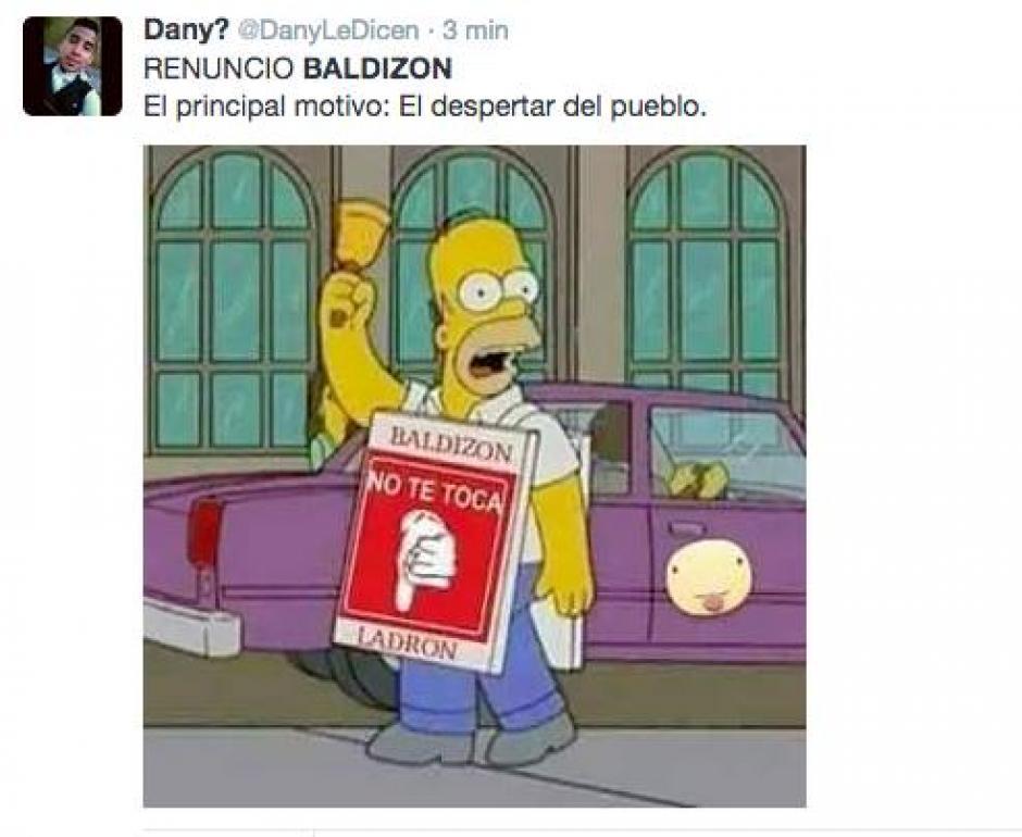 """Baldizón proclamó que """"solo el pueblo salva al pueblo"""" y luego se retiró de la política. (Foto: Twitter)"""