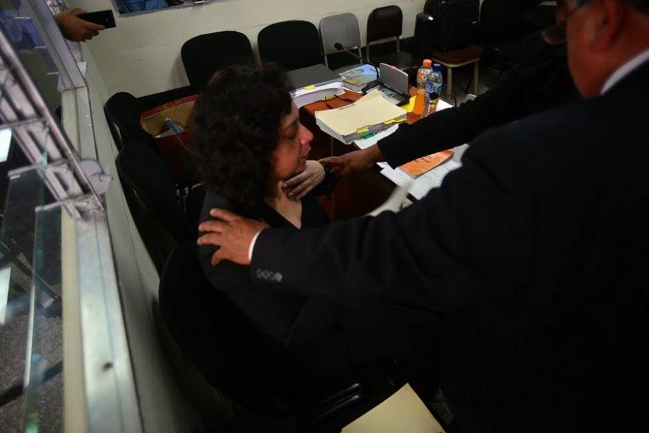 La jueza Jisela Reinoso durante la audiencia de primera declaración en su contra. (Foto: Wilder López/Soy502)