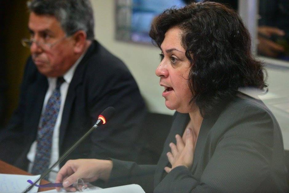 La jueza Reinoso, durante su intevención en la audiencia de primera declaración.(Foto: Wilder López/Soy502)