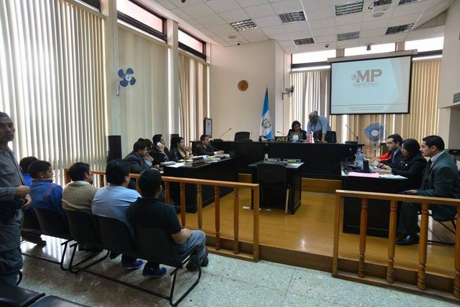 El Juzgado Tercero de Primera Instancia Penal realiza la audiencia de primera declaración de los sindicados en el caso de la muerte del abogado Francisco Palomo. (Foto: Wilder López/ Soy502)