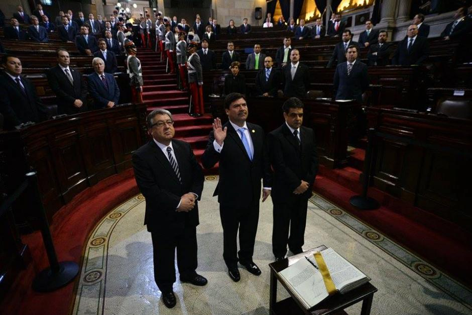 Ranulfo Rojas Cetina, el nuevo presidente del OJ, aprovechó su juramentación en el Congreso para pedir a los diputados más recursos para continuar con la administración de justicia en el país. (Foto: Wilder López/Soy502)