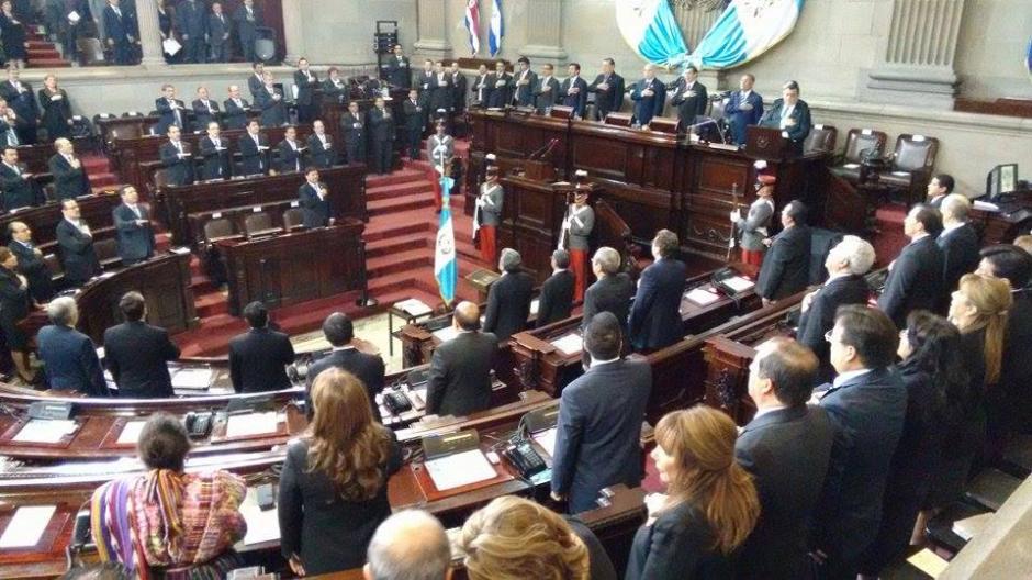 El Congreso de la República juramentó a Rafael Rojas Cetina como el nuevo presidente del OJ y CSJ. (Foto: Wilder López/Soy502)