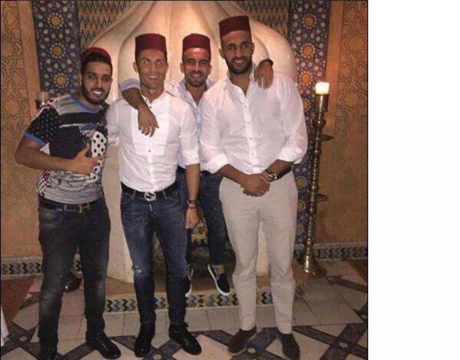 Cristiano Ronaldo además se fue de fiesta a una discoteca en Marruecos