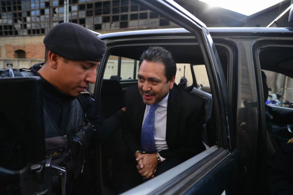 Rivera fue detenido en su residencia de donde se trasladó a la zona 1. (Foto: Wilder López/Soy502)
