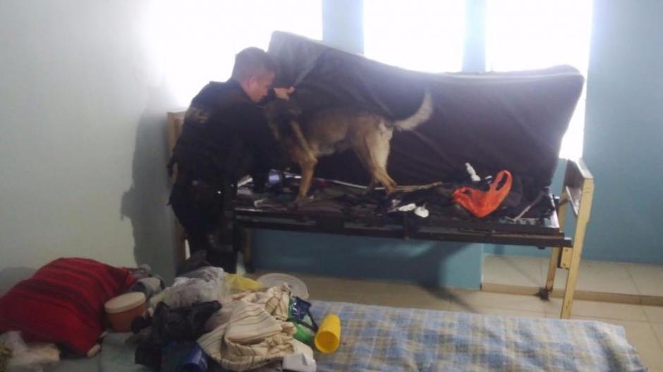 Autoridades realizan un allanamiento en el Hospital Nacional de Salud Mental Federico Mora, en busca de sustancias ilícitas. (Foto: Policía Nacional Civil)