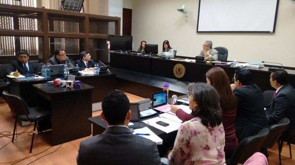Inicia la audiencia de primera declaración del ex candidato vicepresidencial del partido Lider, Édgar Barquín, por un caso de lavado de dinero y tráfico de influencias. (Foto: Wilder López/Soy502)