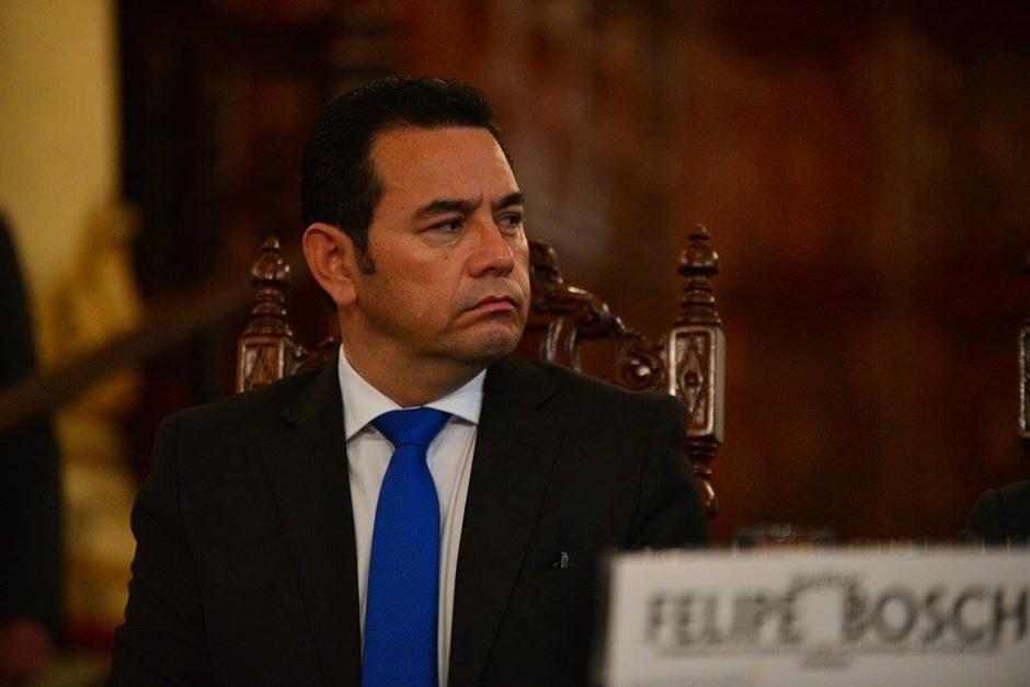 El candidato del partido FCN Nación, Jimmy Morales, durante su participación en la firma de un acuerdo para la transparencia. (Foto: Wilder López/Soy502)