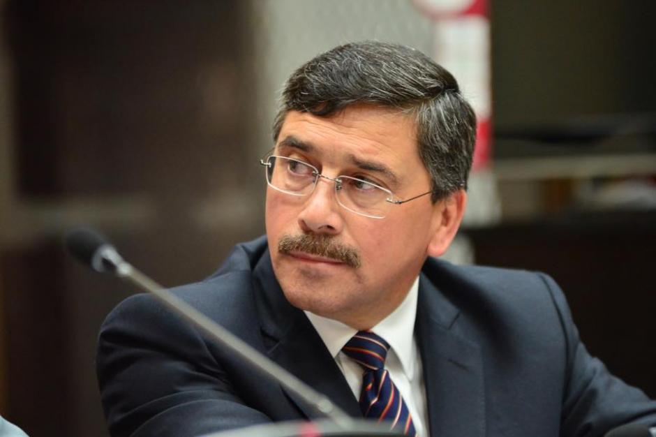 El excandidato vicepresidencial por el partido Líder, Édgar Barquín durante su tercer día de audiencia de primera declaración. (Foto: Jesús Alfonso/Soy502)
