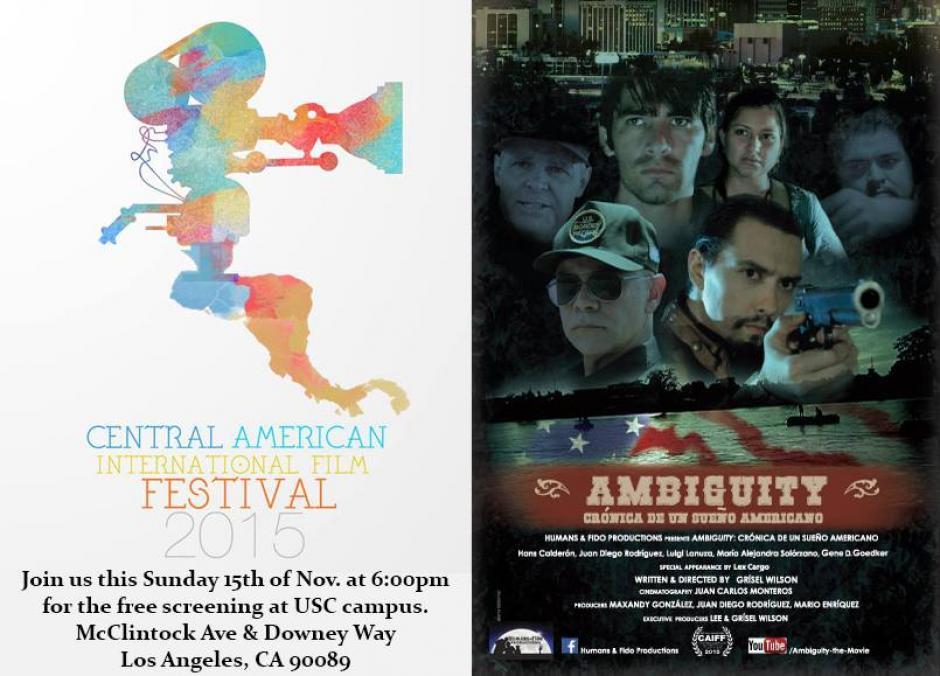 La película compitió con trabajos de México, Costa Rica, Honduras y El Salvador. (Foto: Ambiguity oficial)