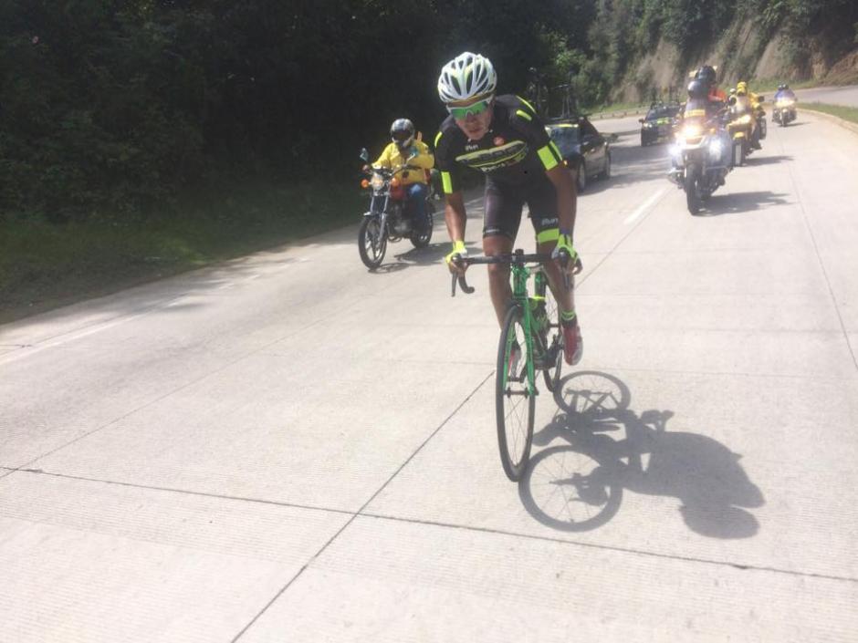 Nervin Jiatz fue el ganador de la cuarta etapa de la Vuelta Ciclística a Guatemala. (Foto: Nuestro Diario)