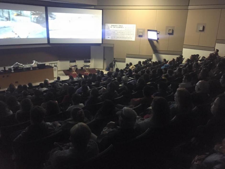 """La sala del auditorio de la """"Universidad del Sur de California"""" se llenó durante las proyecciones. (Foto: Jerry Ortega)"""