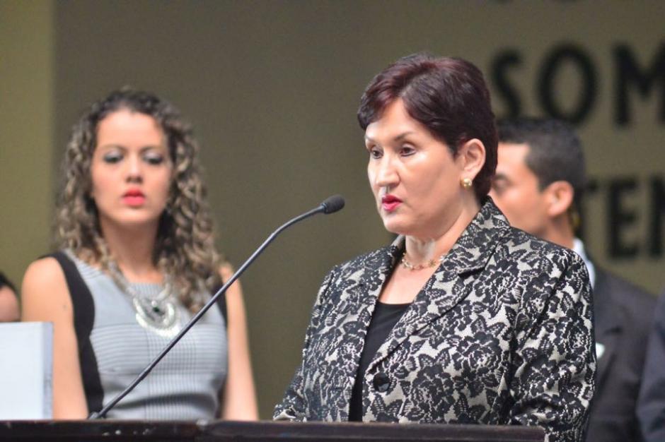 La Fiscal General y Jefa del Ministerio Público Thelma Aldana durante el Octavo Informe de Labores de CICIG. (Foto: Jesús Alfonso/Soy502)