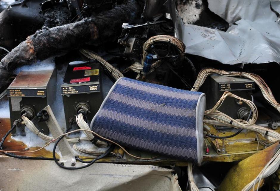 Así quedó la cabina tras el impacto. (Foto: Alejandro Balán/Soy502)