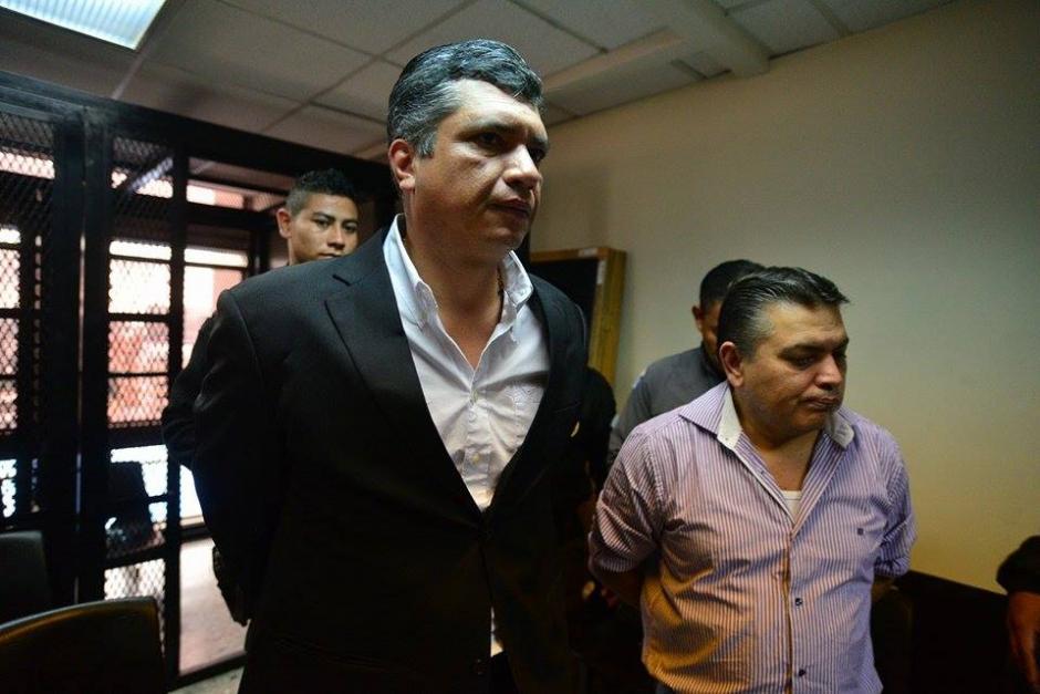 Gustavo Martínez, yerno del expresidente Otto Pérez Molina, en la audiencia en la que se definirá si enfrentará juicio o quedará en libertad. (Foto: Wilder López/Soy502)