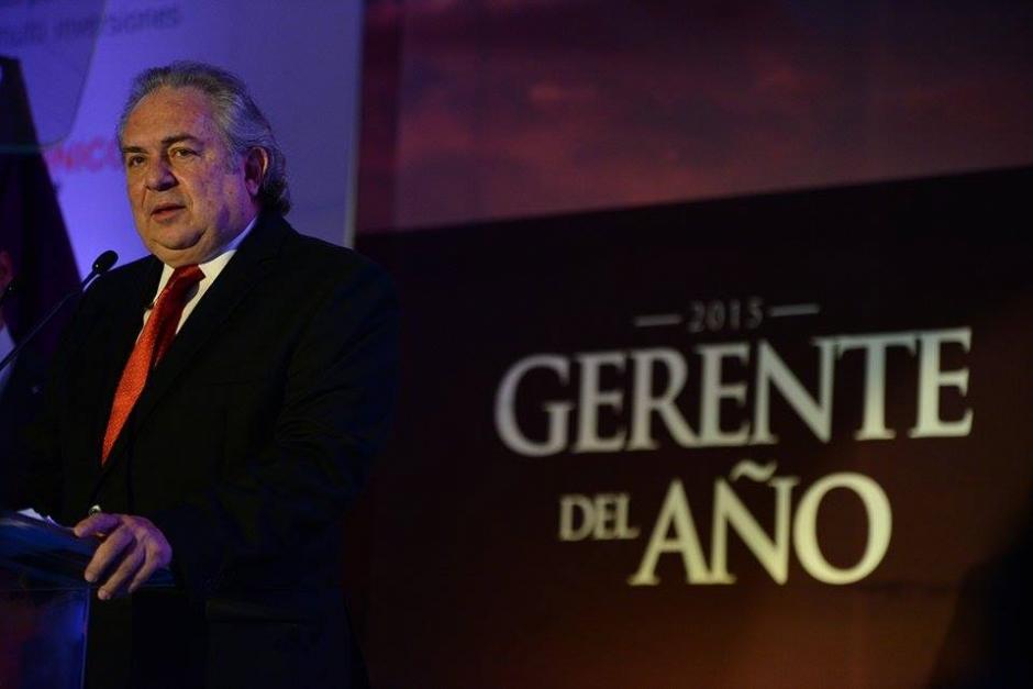 Juan Mauricio Wurmser, deWurmser Ogilvy & Mather, se convirtió en el décimo Gerente del Año. (Foto: Wilder López/Soy502)