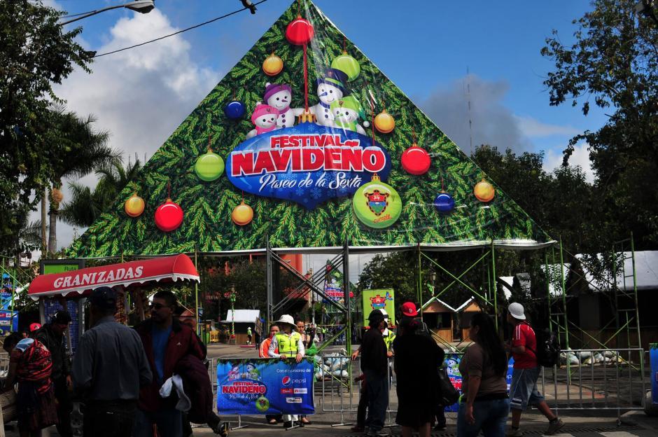 El horario del festival navideño es de 10 a 22 horas horas hasta el 23 de diciembre. (Foto: Alejandro Balán/Soy502)