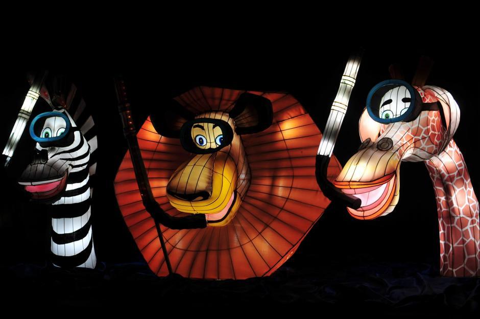 Marty la cebra, Alex el león y Melman la jirafa parte del atractivo. (Foto: Alejandro Balán/Soy502)