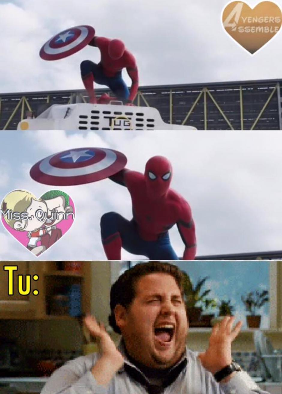 """La emoción de ver a Spiderman en la cinta """"Capitán América: Civil War"""" invadió a muchos. (Foto: Twitter)"""
