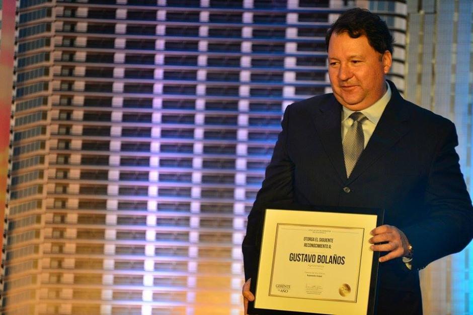 Gustavo Bolaños, de Agroamérica, recibió el reconocimiento al Gerente en Expansión Global.(Foto: Wilder López/Soy502)
