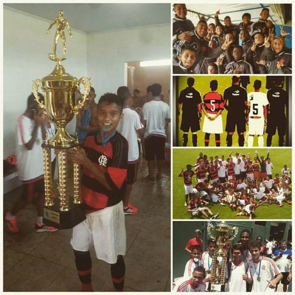 Marcelo André Saraiva Valencia logra su segundo título en las inferiores de Flamengo. (Foto: Facebbok)