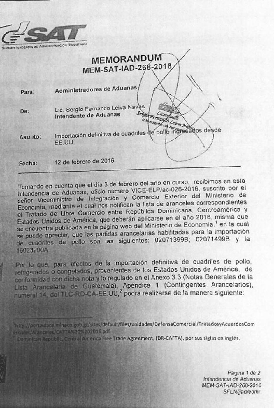 Ministerio de Economía envía lista de aranceles a administradores de Aduanas. (Foto: Evelyn de León/Soy502)