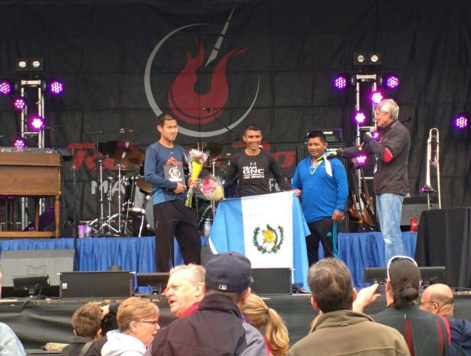Arévalo se impuso en la maratón disputada en Washington, en dos horas, 30 minutos y 4 segundos. (Foto: cortesía de Alejandro Donis)
