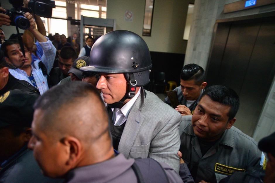 Estuardo González ha sido trasladado tres veces esta semana a Tribunales. (Foto: Wilder López/Soy502)