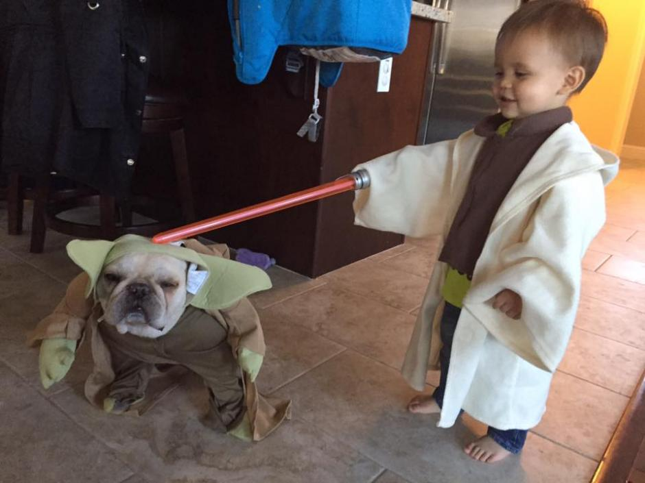 El sable de luz es uno de los accesorios más usados por los fanáticos de Star Wars. (Foto: Facebook/Mandy Schafer)