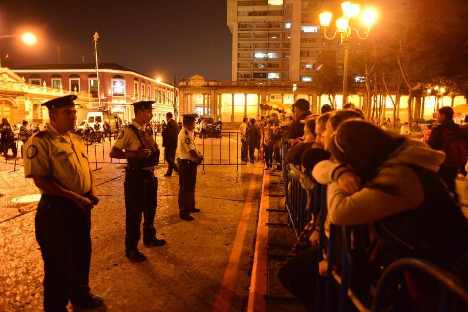 La seguridad se redobló en los alrededores de la Plaza Central. (Foto: Jesús Alfonso/Soy502)