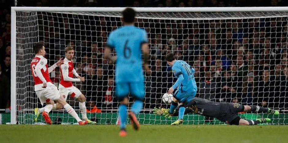 Así fue el gol de Messi al Arsenal. (Foto: EFE)