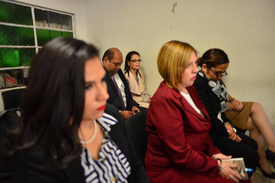En la sala del Juzgado de Villa Nueva esperaban los acusados. (Foto: Jesús Alfonso/Soy502)