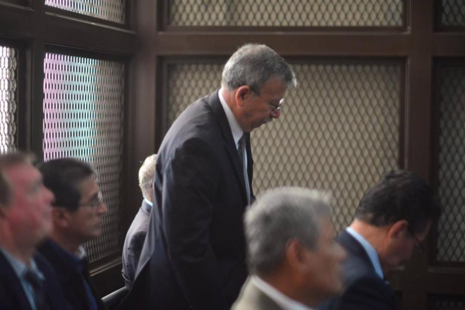El militar retirado Ismael Segura Abularach en la audiencia de primera declaración por un caso de desapariciones forzadas durante el conflicto armado interno. (Foto: Jesús Alfonso/Soy502)