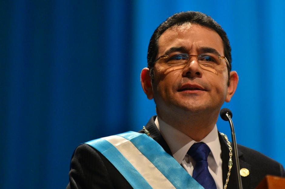 El presidente de la República Jimmy Morales asumió como presidente, este 14 de enero en la Gran Sala Efraín Recinos del Centro Cultural Miguel Ángel Asturias. (Foto: Wilder López/ Soy502)