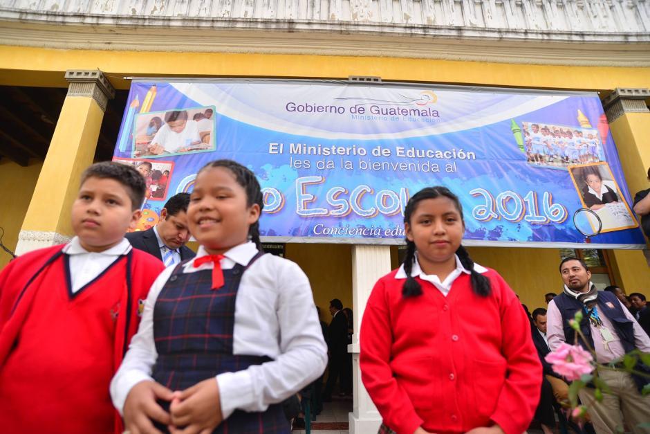 Este lunes 11 de Enero se inauguró el Ciclo Escolar 2016. (Foto: Wilder López/Soy502)