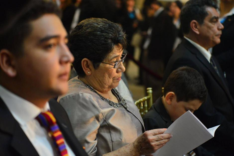 Celita Cabrera, la madre de Jimmy Morales participa en el Te Deum en Catedral, dijo que siempre le creyó a su hijo cuando hace 10 años le dijo que sería presidente. (Foto: Jesús Alfonso/Soy502)